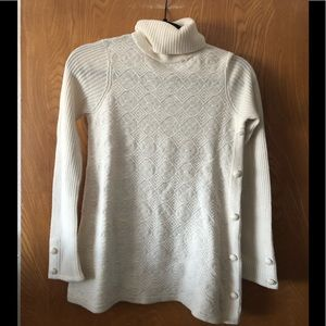 HWR Anthropologie turtle neck textured sweater XS